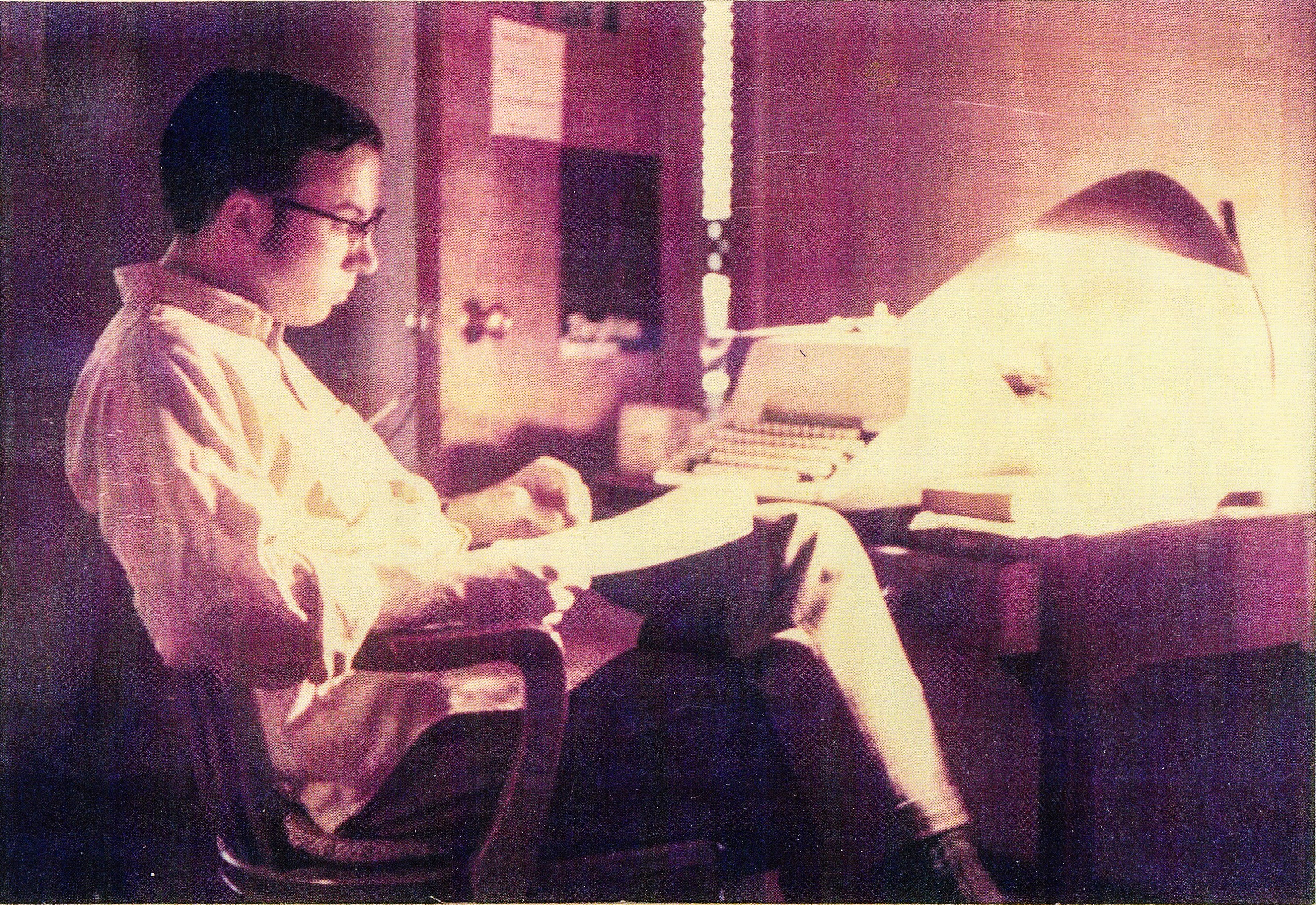 Br. David at His Desk